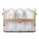Metallic Box Clutch Bag in Silver