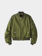 Quilted Military Bomber Jacket