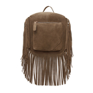 Khaki Tassel Franjas Mini Bag