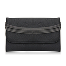 Fold Over Chain Clutch Bag in Black