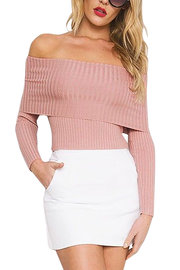 Rose Sexy Encolure manches longues Jumper