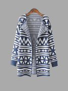 Vintage Geometric Knitting Sweater Cardigan