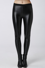 Leggings en cuir noir