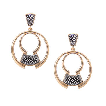 Double Circle & Mono Print Earrings