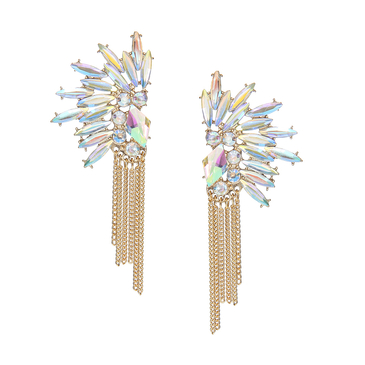Diamond Earrings with Tassel Detail