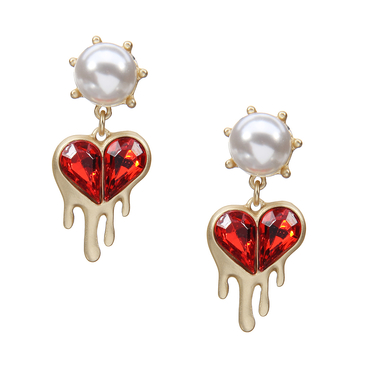 Red Heart Lovely Earrings