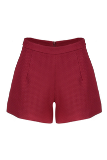 Jacquard Shorts in Red