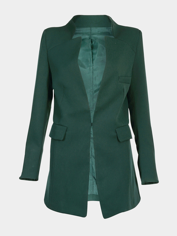 Longline Blazer with Metallic Fastener