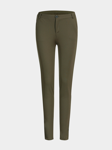 Skinny Trousers in Deep Green