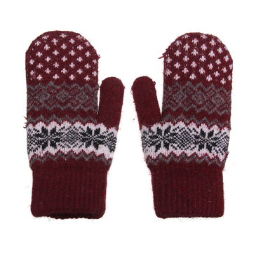 Mittens with Geometric Print