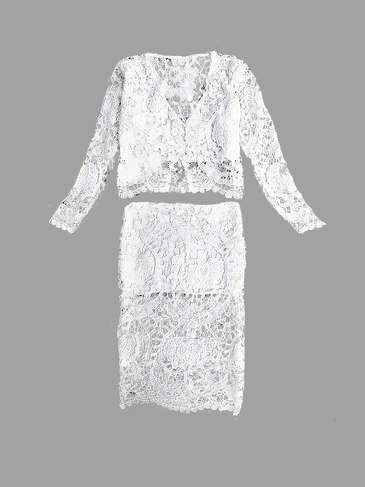 White Crochet Lace Co-ord