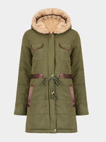 Drawstring Waisted Parka
