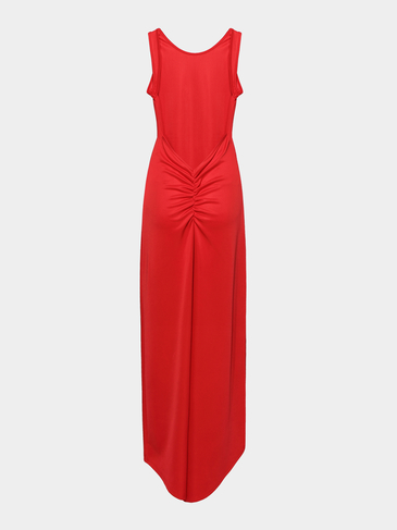 Backless Maxi Dress in Red