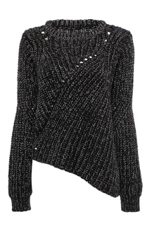 Black Jumper with Asymmetric Hem
