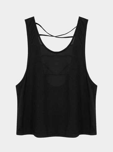 Black Cross Back Vest