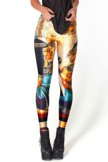 Fashion Yoga Leggings with Egypt Cleopatra Print