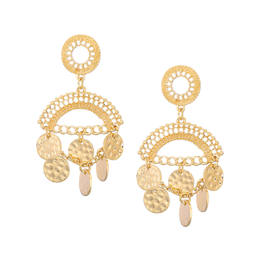 Bohemia Hollow Out Drop Earrings with Tassel Detail