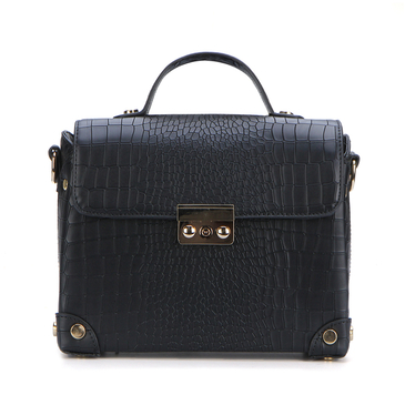 Black Snake Patten Shoulder Bag