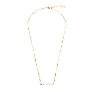 Simple Gold Plated Artificial Pearl Necklace