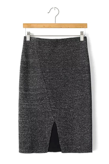 Knit Skirt with Cut Out Detail