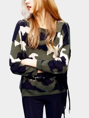 Camouflage Casual Long Sleeves Jumper