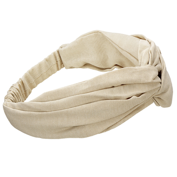 Knot Stretch Headband in Beige