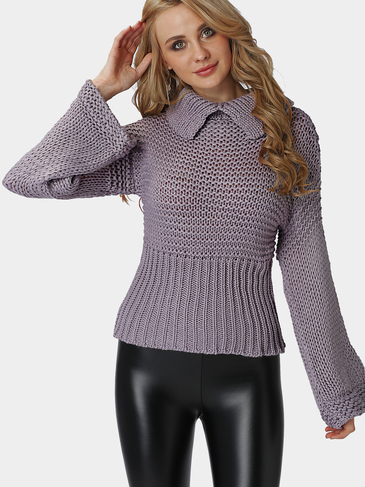 Grey Turtleneck Chunky Oversized Knit Jumper