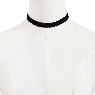 Black Velvet Choker Necklace for Girls Wave Line Choker Collar Adjustable