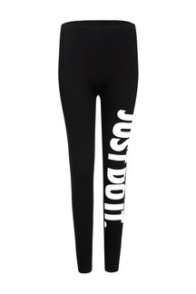 "White ""JUST DO IT"" Letter Pattern Leggings"