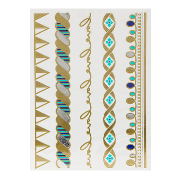 Bangle Pattern Metallic Temporary Tattoo Sticker