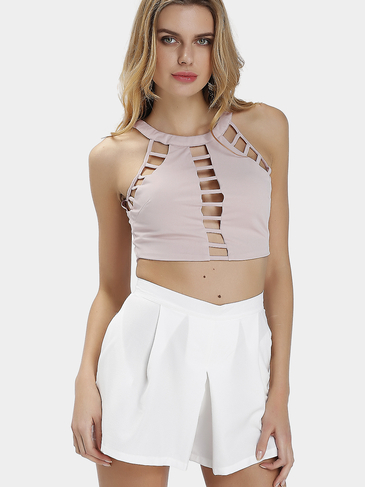Sexy Bodycon Cross Design Crop