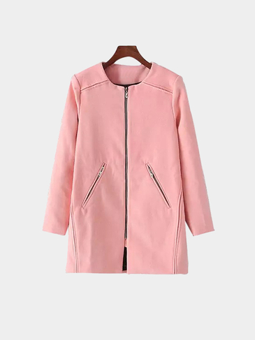 Duster Coat In Pink