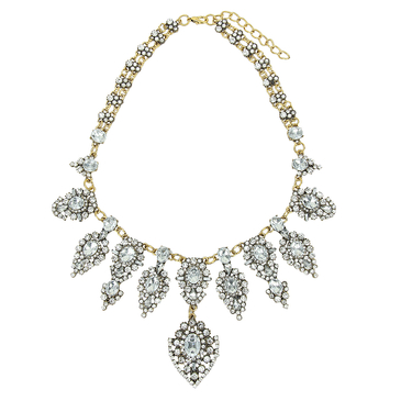 Chic Diamante Leaf Necklace