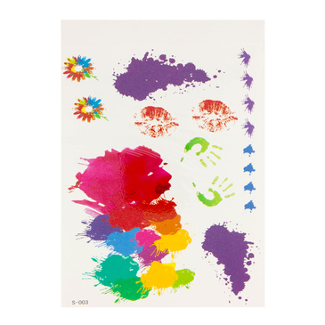 Ink Painting Graffiti Metallic Temporary Tattoo Sticker