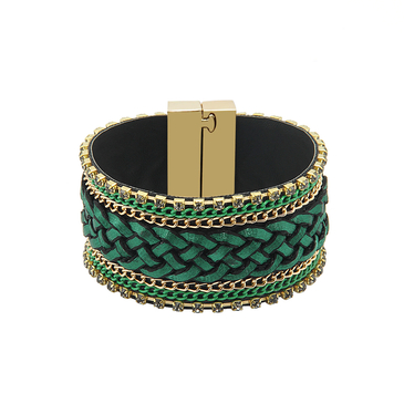 Folk Woven Bracelet with Magnetic Fastening