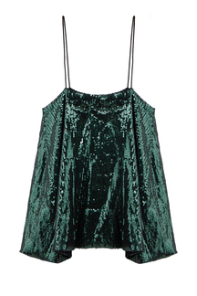 Sequin Cami Top in Green