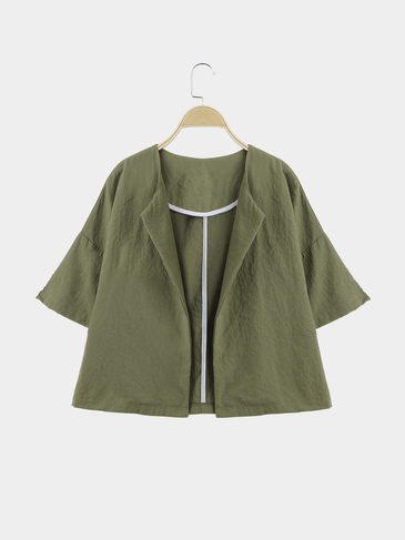 Army Green Easy-matched 1/2 length Sleeves Outwear