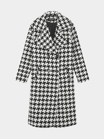 Oversize Lapel Collar Duster Coat