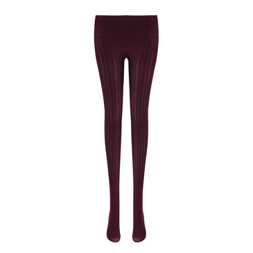 Burgundy Rib Tights