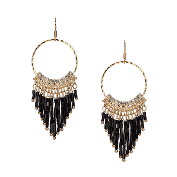 Bead Embellished Drop Earrings