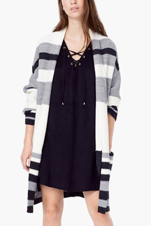 Colorful Stripe Pattern Cardigan