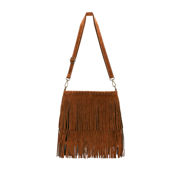 Brown Fringe Tassel Square Satchel