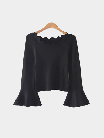 Black Fashion Long Sleeves Sweater