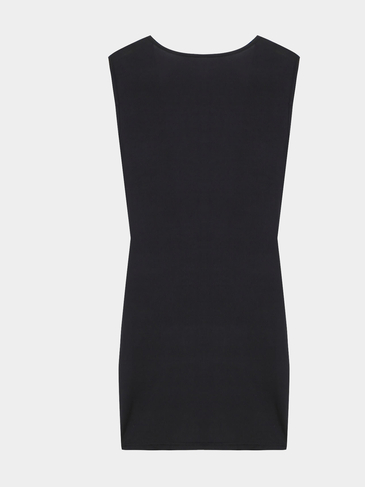 Plunge Neck Sleeveless Wrap Dress