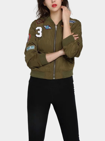 Army Green Bomber Jacket С Знак
