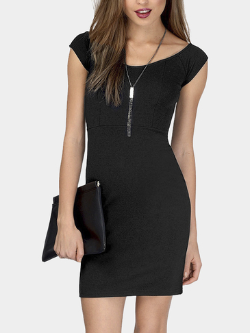 Black Body-con Mini Dress
