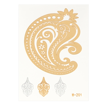 Spoondrift Metallic Temporary Body Tattoo Sticker