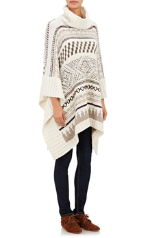 Cape Sweater in Geometric Print