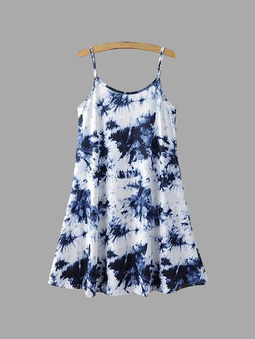Sleeveless Mini Dress in Floral Print