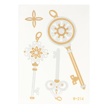 Key Metallic Temporary Body Tattoo Sticker